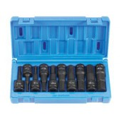 10 Pc 1/2-Inch Drive Metric Impact Hex Socket Set Grey Pneumatic
