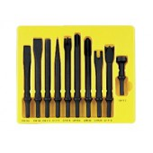 10 PC CHISEL SET .401 SHANK Grey Pneumatic