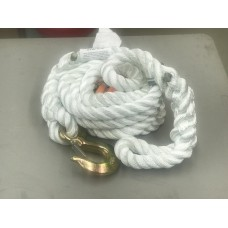 3/4-Inch x 20-Foot 3 Strand Nylon Tow Rope