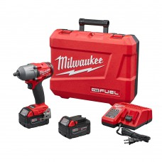 """Kit 1/2"""" Compact Mid Torque Impact Wrench Milwaukee Bare Tool w/ 2 5.0 Batteries Kit"""