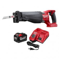 Milwaukee 18 Volt Lithium Ion Cordless SAWZALL Reciprocating Saw W/ M18 9.0Ah Battery & Charger