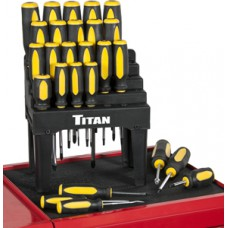 Titan 26 PC Screw Driver Set With Display Rack