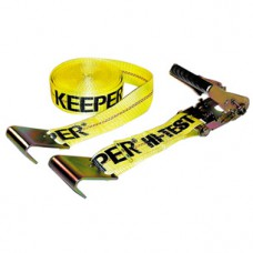 2-Inch x 2--foot' Yellow Ratchet Strap with Flat Hooks