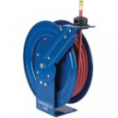"3/8"" x 50 AUTOMATIC AIR/WATER HOSE REEL W/HOSE"