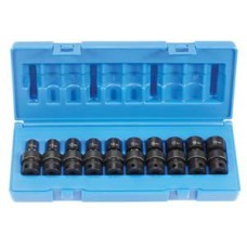 "Grey Pneumatic 3/8"" Metric  Standard Length UniverslSocket Set GP1210UM"