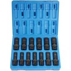 13 Pc. 1/2-Inch Drive Deep Metric Universal Impact Socket Set Grey Pneumatic
